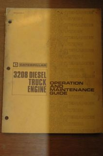 Cat Caterpillar 3208 Truck Diesel Engine Owner Operation Maintenance