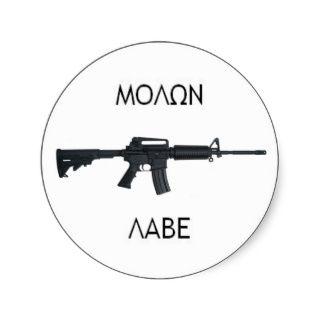 AR15 Molon Labe stcker Runde Sticker