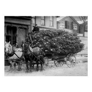 Last von Weihnachten Trees, 1910 Plakatdruck