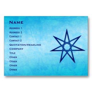 Septagram, Heptagram, sieben gezeigter Stern Visitenkarte