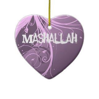 Mashallah islamische violette Verzierung Weihnachtsbaum Ornamente von