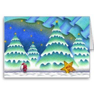 Weihnachtsbilder   Weihnachtsabend des Schnees Grußkarten
